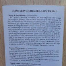 Juegos Antiguos: DESPLEGABLE DE REGLAS - INSTRUCCIONES DE JUEGO DE SATM_ESDLA_SEÑOR DE LOS ANILLOS_SERVIDORES OSCURID. Lote 46999828