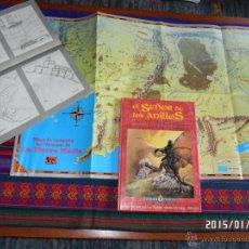 Juegos Antiguos: EL SEÑOR DE LOS ANILLOS JUEGO AVENTURAS BÁSICO CON DOS MAPAS TIERRA MEDIA JOC INTERNACIONAL 1992 ROL. Lote 47322705