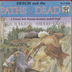 Juegos Antiguos: LIBRO PARA JUEGO ROL-ERECH AND THE PATHS OF THE DEAD-R.SOCHARD-BASED ON THE LORD OF THE RINGS-1985. Lote 47443064