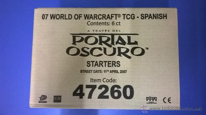 Juegos Antiguos: 6 MAZOS/CAJAS DE INICIO, SIN ABRIR, EN ESPAÑOL, PORTAL OSCURO, WORLD OF WARCRAFT - Foto 3 - 152070074