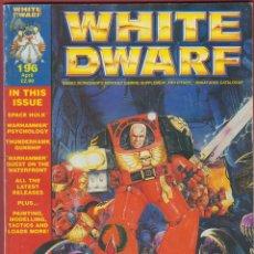 Juegos Antiguos: WHITE DWARF-Nº196-GAMES WORKSHOP,LTD-MINIATURES CATALOGUE-1996-. Lote 47771732