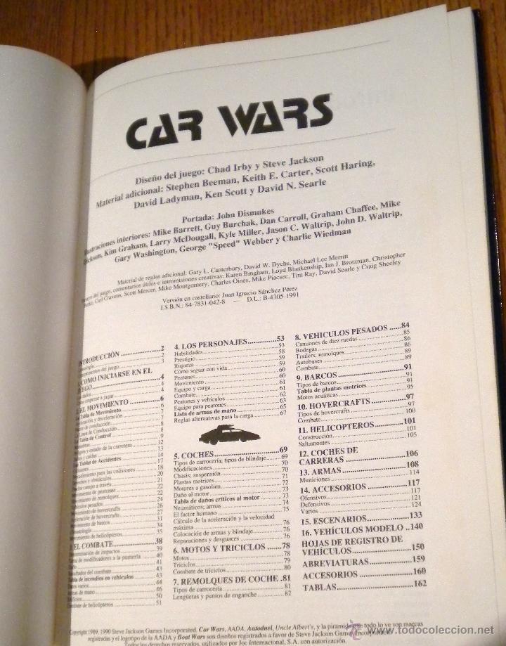 Juegos Antiguos: Car Wars. Juego de duelos motorizados ,joc internacional , libro y carpeta - Foto 3 - 48730041