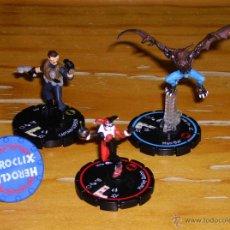Juegos Antiguos: HEROCLIX: HARLEY QUINN, MANBAT, JAMES GORDON, ANILLO.. Lote 48890159