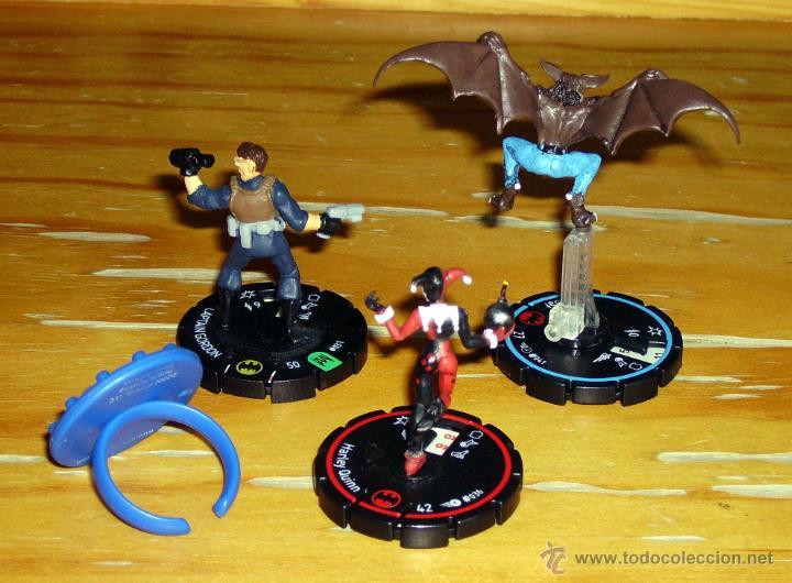 Juegos Antiguos: Heroclix: Harley Quinn, Manbat, James Gordon, anillo. - Foto 2 - 48890159