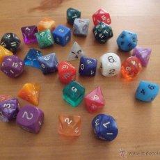 Juegos Antiguos: GRAN LOTE DE 29 DADOS DE ROL - PERFECTO ESTADO - AÑOS 90. Lote 49086746