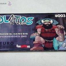 Juegos Antiguos: LOS ROLATOS DE CROM 03 SUPERHÉROES INC, EUROMEN: GENESIS , ED. QUEPUNTOES. Lote 86534372