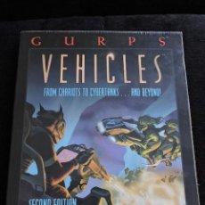 Juegos Antiguos: GURPS - VEHICLES - STEVE JACKSON GAMES - INGLES - ROL. Lote 49885261