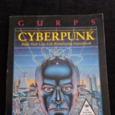Juegos Antiguos: GURPS - CYBERPUNK - HIGH-TECH LOW-LIFE ROLEPLAYING SOURCEBOOK - STEVE JACKSON GAMES - INGLES - ROL. Lote 49901095
