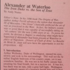 Juegos Antiguos: WARGAME ALEXANDER AT WATERLOO, DE CLASH OF ARMS. Lote 49907629