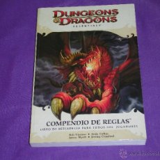 Jeux Anciens: DUNGEONS & DRAGONS - COMPENDIO DE REGLAS - LIBRO DE REFERENCIA PARA TODOS LOS JUGADORES - ¡FORRADO!. Lote 49928293