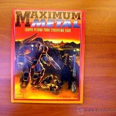 Juegos Antiguos: MAXIMUM METAL (PARA EL JUEGO DE ROL CYBERPUNK 2.0.2.0.). Lote 50307821