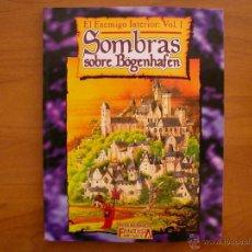 Juegos Antiguos: SOMBRAS SOBRE BOGENHAFEN (EL ENEMIGO INTERIOR I) - WARHAMMER - JUEGO DE ROL - FACTORIA. Lote 269202798