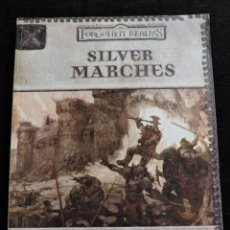 Juegos Antiguos: FORGOTTEN REALMS - SILVER MARCHES - DUNGEONS & DRAGONS CAMPAIGN ACCESSORY - INGLES - ROL. Lote 50677504