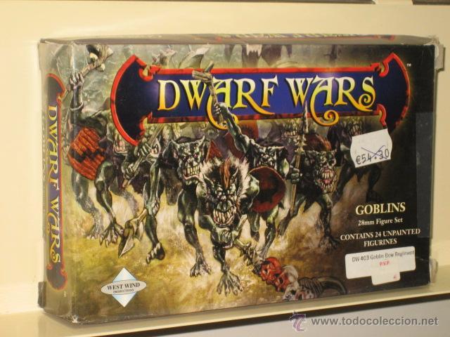 DWARF WARS GOBLINS 24 MINIATURAS SIN PINTAR METAL 28 MM OFERTA (ANTES 54,30 €) (Juguetes - Rol y Estrategia - Otros)