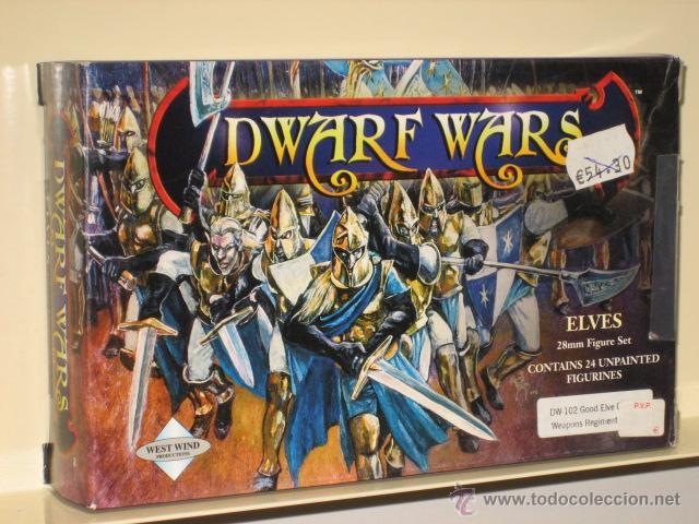 DWARF WARS ELVES ELFOS 24 MINIATURAS SIN PINTAR METAL 28 MM OFERTA (ANTES 54,30 €) (Juguetes - Rol y Estrategia - Otros)