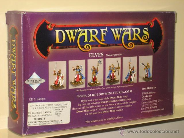 Juegos Antiguos: DWARF WARS ELVES ELFOS 24 MINIATURAS SIN PINTAR METAL 28 MM OFERTA (ANTES 54,30 €) - Foto 2 - 50861659