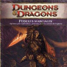 Juegos Antiguos: DUNGEONS & DRAGONS PODERES MARCIALES BOX1. Lote 51017707