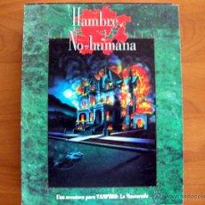 Juegos Antiguos: HAMBRE NO HUMANA. VAMPIRO LA MASCARADA. JUEGO DE ROL. NUEVO. LA FACTORÍA DE IDEAS.. Lote 51254373