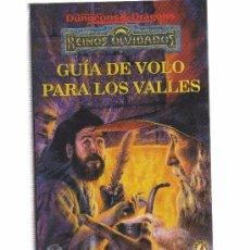 Giochi Antichi: GUIA DE VOLO PARA LOS VALLES REINOS OLVIDADOS BOX20. Lote 51323575
