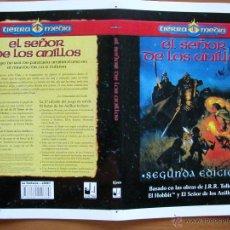 Juegos Antiguos: EL SEÑOR DE LOS ANILLOS. PRUEBA FOTOGRÁFICA DE LA CUBIERTA DESPLEGADA. JUEGO DE ROL. LA FACTORÍA.. Lote 51522386