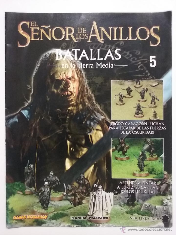 EL SEÑOR DE LOS ANILLOS. BATALLAS EN LA TIERRA MEDIA. FASCICULO Nº 5. PLANETA - GAMES WORKSHOP (Juguetes - Rol y Estrategia - Juegos de Rol)