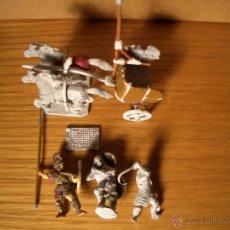 Old Games - Soldados griegos y cuadriga - metal 28 mm - 52635250