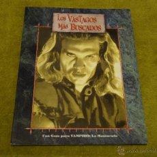 Juegos Antiguos: VAMPIRO LA MASCARADA LOS VASTAGOS MAS BUSCADOS (LA FACTORIA IDEAS LF1012 MUNDO DE TINIEBLAS). Lote 109220454