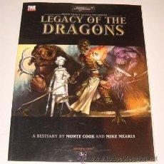 Juegos Antiguos: VV. AA. LEGACY OF THE DRADONS. RM72773. . Lote 53730520