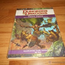 Juegos Antiguos: PRIMAL POWER - D&D 4TH EDITION PRIMAL POWER DUNGEONS & DRAGONS PERFECTO. Lote 54063141