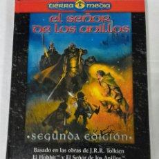 Juegos Antiguos: EL SEÑOR DE LOS ANILLOS BÁSICO 2ª EDICIÓN , TAPA DURA , LA FACTORIA DE IDEAS. Lote 54210909