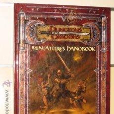 Juegos Antiguos: DUNGEONS & DRAGONS 3RD EDITION MINIATURES HANDBOOK - WIZARDS OF THE COAST OFERTA - EN INGLES. Lote 54430074