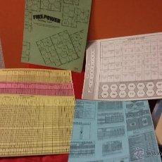 Juegos Antiguos: TABLAS DEL WARGAME FIREPOWER DE AVALON HILL. Lote 54926147