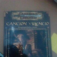 Juegos Antiguos: LIBRO-DUNGEONS Y DRAGONS -CANCION Y SILENCIO-UNA GUIA PARA BARDOS Y PICAROS -96 PAG-OFFICIAL WIZARDS. Lote 55315004