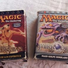 Juegos Antiguos: MAGIC THE GATERING LOTE DE CAJAS PARA CARTAS MIRRODIN AÑO 2003 USA Y KAMIGAWA AÑO 2004 USA VER FOTOS. Lote 55366016