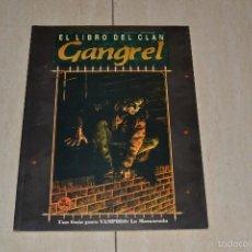 Juegos Antiguos: EL LIBRO DEL CLAN GANGREL UNA GUIA PARA VAMPIRO: LA MASCARADA. Lote 55708004