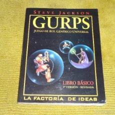 Juegos Antiguos: GURPS - JUEGO DE ROL GENÉRICO UNIVERSAL (3ª EDICIÓN REVISADA). STEVE JACKSON (LA FACTORIA DE IDEAS). Lote 115180980