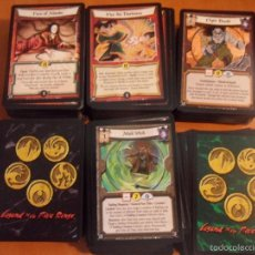 Juegos Antiguos: LEGEND OF THE FIVE RINGS. LOTAZO DE 600 CARTAS. 1420 GRAMOS.. Lote 57028371