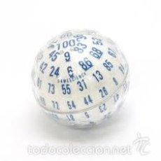 Juegos Antiguos: DADO DE 100 CARAS BLANCO (100 SIDED DICE). ZOCCHIHEDRON.. Lote 80743426