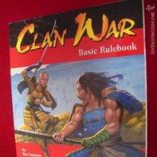 Juegos Antiguos: CLAN WAR - BASIC RULEBOOK - JUEGO DE ROL EN INGLES. Lote 58549418