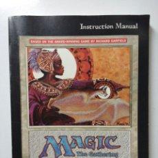 Juegos Antiguos: JUEGO DE ROL MAGIC THE GATHERING INSTRUCCIONES PC AÑO 1997. Lote 61080935