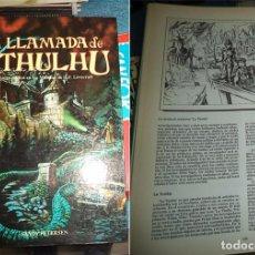 Juegos Antiguos: MANUAL LA LLAMADA DE CTULHU JUEGO DE ROL EN LOS MUNDOS DE H.P. LOVECRAFT JOC INTERNAIONAL 1988. Lote 67536453
