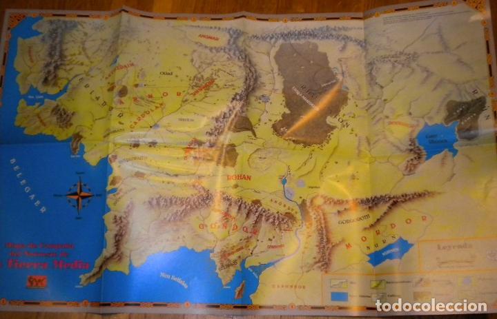 Juegos Antiguos: el señor de los anillos juego de aventuras basico / dos mapas y personajes / tolkien - Foto 2 - 68057453