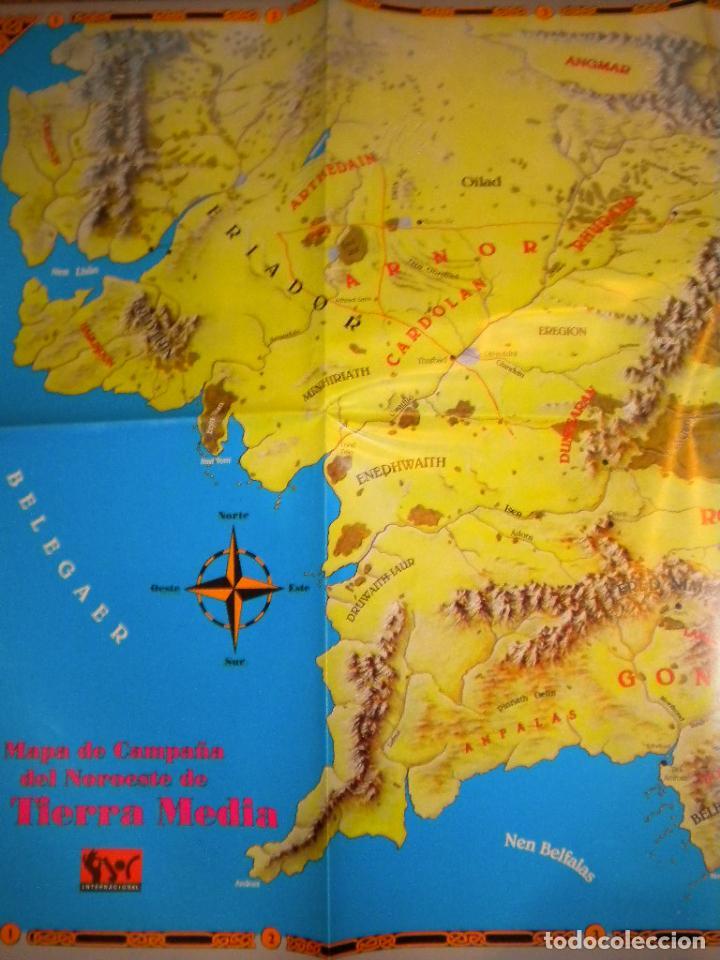 Juegos Antiguos: el señor de los anillos juego de aventuras basico / dos mapas y personajes / tolkien - Foto 3 - 68057453