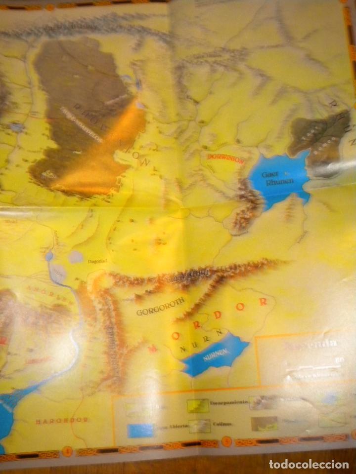 Juegos Antiguos: el señor de los anillos juego de aventuras basico / dos mapas y personajes / tolkien - Foto 4 - 68057453