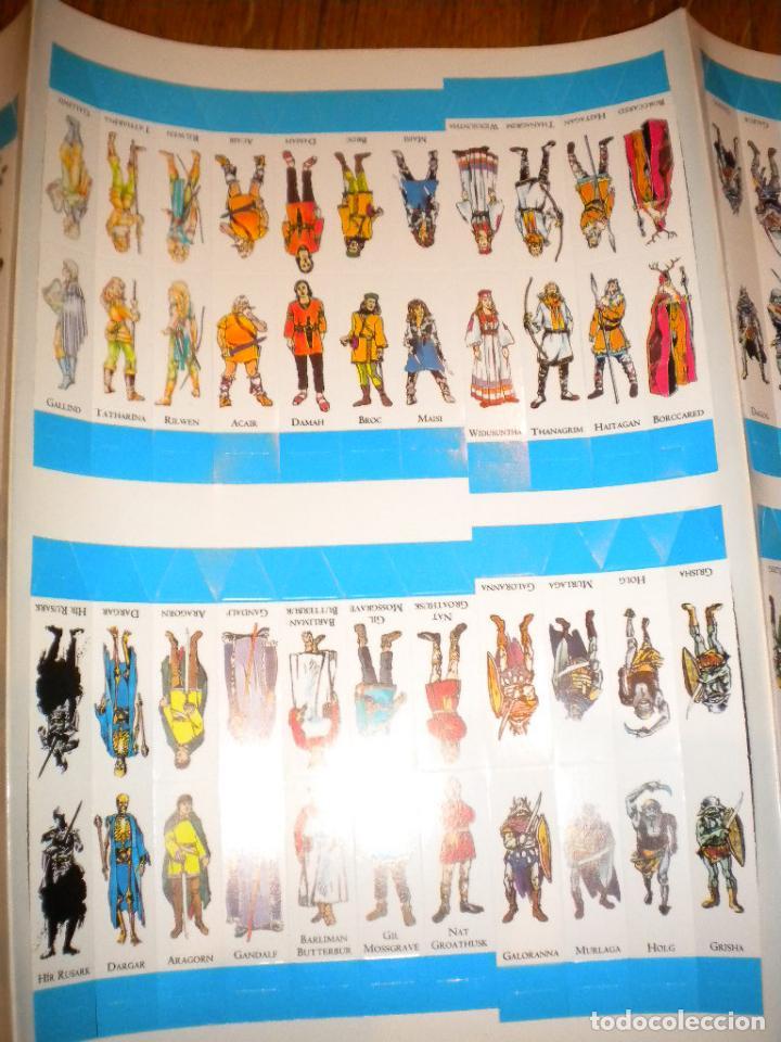 Juegos Antiguos: el señor de los anillos juego de aventuras basico / dos mapas y personajes / tolkien - Foto 6 - 68057453
