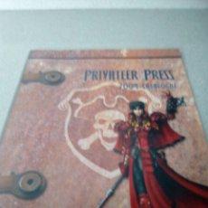Juegos Antiguos: PRIVATEER PRESS 2004 CATALOGUE WARMACHINE. Lote 74317854