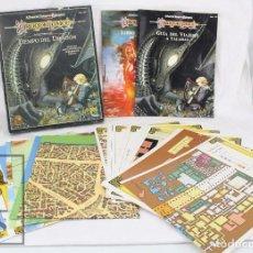 Juegos Antiguos: JUEGO DE ROL - DRAGON LANCE. TIEMPO DEL DRAGÓN 2ª VERSIÓN. ADVANCED DUNGEONS & DRAGONS / AD&D, 1993. Lote 74948267