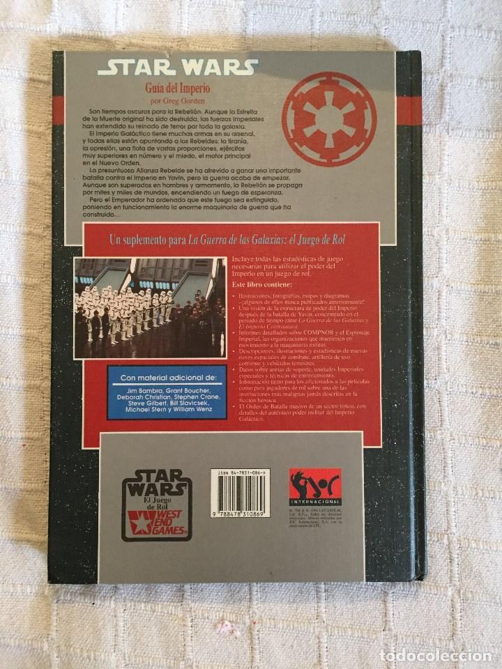 Juegos Antiguos: LA GUÍA DEL IMPERIO, MÓDULO DEL JUEGO DE ROL STAR WARS. JOC INTERNACIONAL 1994 1º EDICIÓN - Foto 2 - 75562327