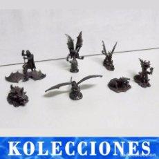 Juegos Antiguos: 7 FIGURAS DE DRAGONES Y CRIATURAS FANTÁSTICAS, PLANETA, DE PLOMO. MÁS DE 70 EUROS. Lote 76849331