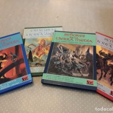 Juegos Antiguos: LOTE SEÑORES DE LA TIERRA MEDIA VOLÚMENES I/II/III + CRIATURAS DE LA TIERRA MEDIA. Lote 77585893